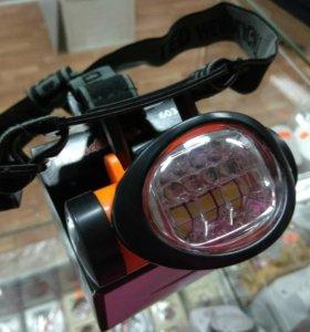 Налобный фонарик, 7 диодов