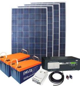 Солнечная электростанция для дома, дачи, вагончика