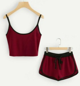 Cami Top c Drawstring шорты