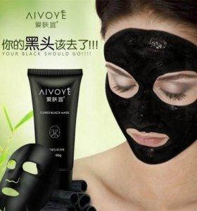 Чёрная маска для очищения лица