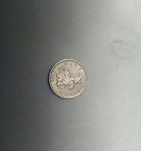 Монета.одна копейка 2004 год с повернутой буквой м