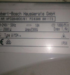 bosch WFO2040OE/01