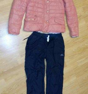 Курточка и штаны адидас