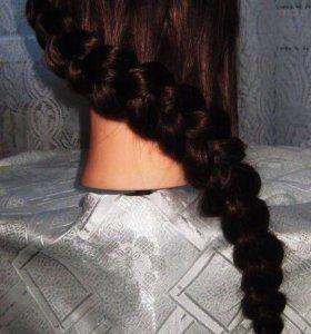 Плетение объёмной косы на бок