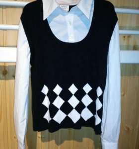 Блузка-обманка для девочки