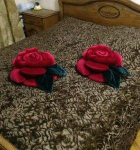 Плед розы