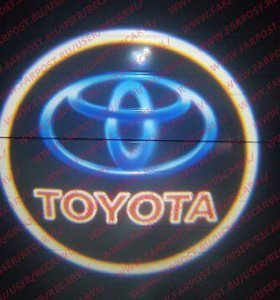 Проекция логотипа в двери (подсветка дверей) Toyot