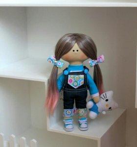 Интерьерная кукла. Куколка ручной работы. Тильда