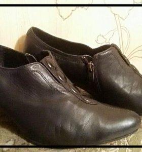демисезонные туфли из натуральной кожи