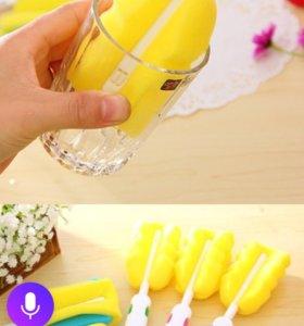 Губка для мытья стаканов, банок и тд.