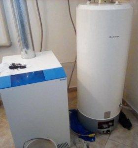 Установка котлов и водонагревателей