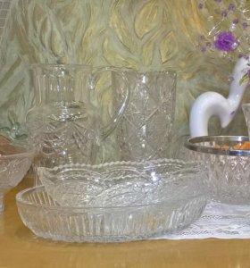 Посуда из хрусталя и фарфора