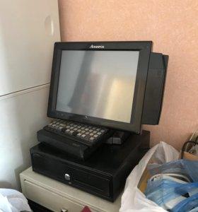 Сенсорный POS-терминал для кассы с денежным ящиком