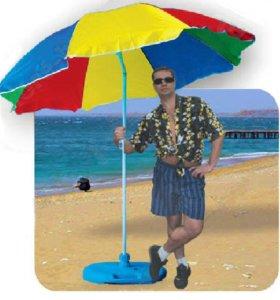 Зонт Арбуз с регулируемым наклоном, диам. 180 см