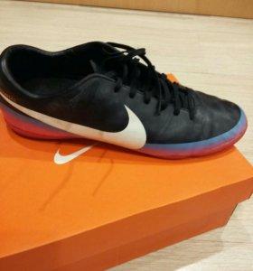 Бутсы (кожа)   Nike  Mercurial + подарок