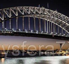 Кухонный фартук ПВХ фотопечать Вечерний мост