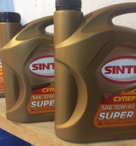 Моторное масло Sintec 4L
