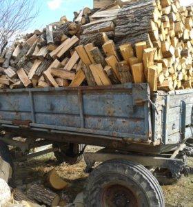дрова вместе с прицепом