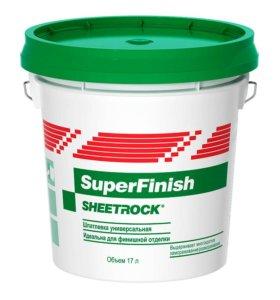 Готовая шпаклевка sheetrock superfinish 17 л