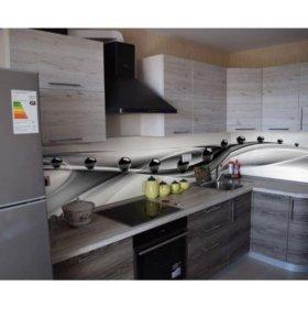 Кухонный фартук ПВХ фотопечать Чёрные шары малые