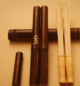 Бамбуковые палочки с наполнителем для массажа
