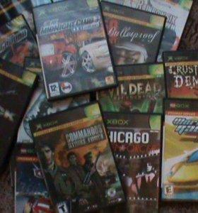 Игры для Xbox разные 47 дисков цена за  все диски