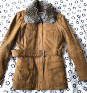 Куртка из натуральной замши с мехом кролика