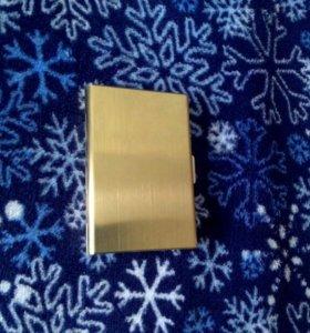 Футляр для кредитных карт metal Gold