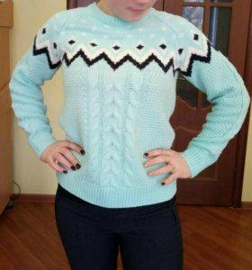 Теплый свитер мятного цвета из Ostin`а