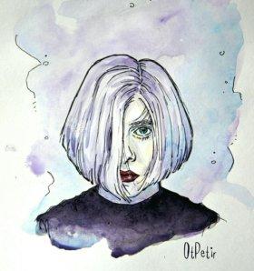 Картина (акварель) портрет постер