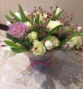 Цветы букеты 8 марта