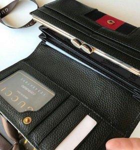 Кошелёк портмоне женский Gucci в коробке натур кож
