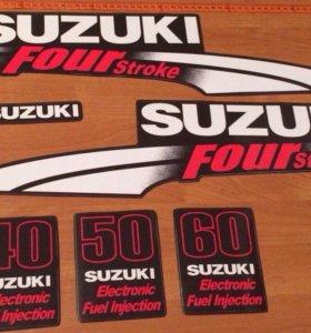 Наклейки лодочного мотора Сузуки 50-60-40