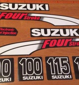 Наклейки карбюратор Сузуки 100-115-130