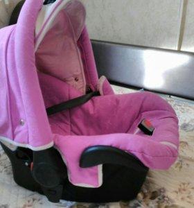 Автолюлька до 10кг розовая