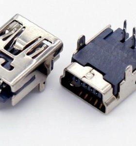 Разъём mini USB 5 шт.