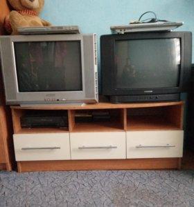 Телевизор, DVD, видеомагнитофон