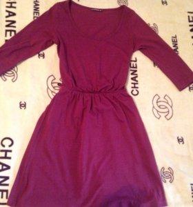 Бордовое платье terranova xs