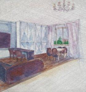 Дизайн проект квартиры/дома