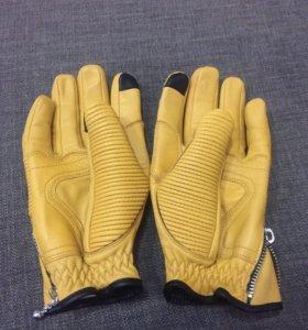 Мото Перчатки , кожаные , размер L