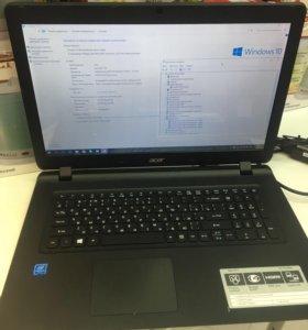 Ноутбук ACER Aspire ES17 4x1,1/4/500/intel