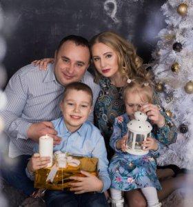 Семейные фотосессии в студии