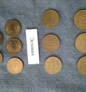 Монеты Эстонии и Швеции