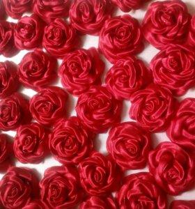 Розы текстильные для декорирования и отделки