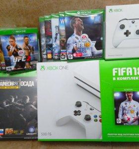 Новый Xbox S 4К +2 джойстика+13 игр