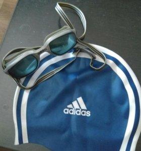 Очки и шапочка для плавания adidas