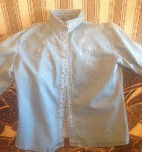 Рубашка женская джинсовая 52р