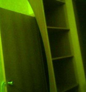 Большой шкаф-купе с большим зеркалом