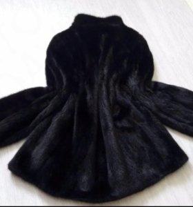 Шуба норковая черная 44-46