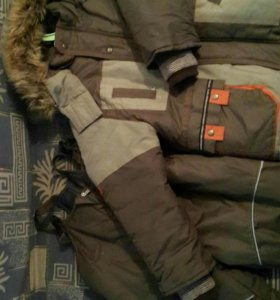 Зимний детский комбинезон + куртка